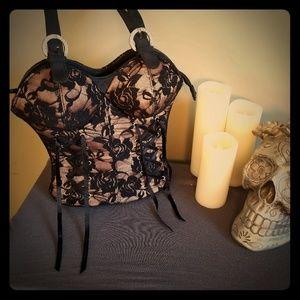 Handbags - Corset Lace Novelty Purse